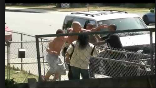 A weekend fistfight in unincorporated Walnut Creek brought police on the run.